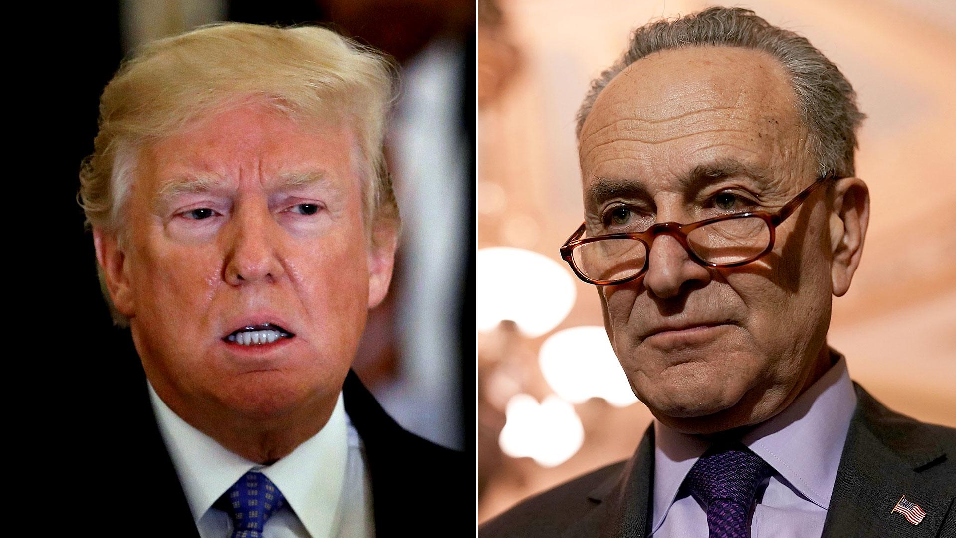Doanld Trump y el demócrata Chuck Schumer