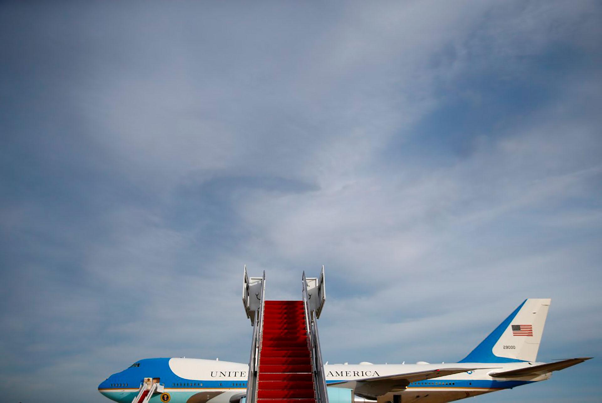21/1/2018 El avión presidencial, Air Force One, antes de trasladar a Trump a la Florida