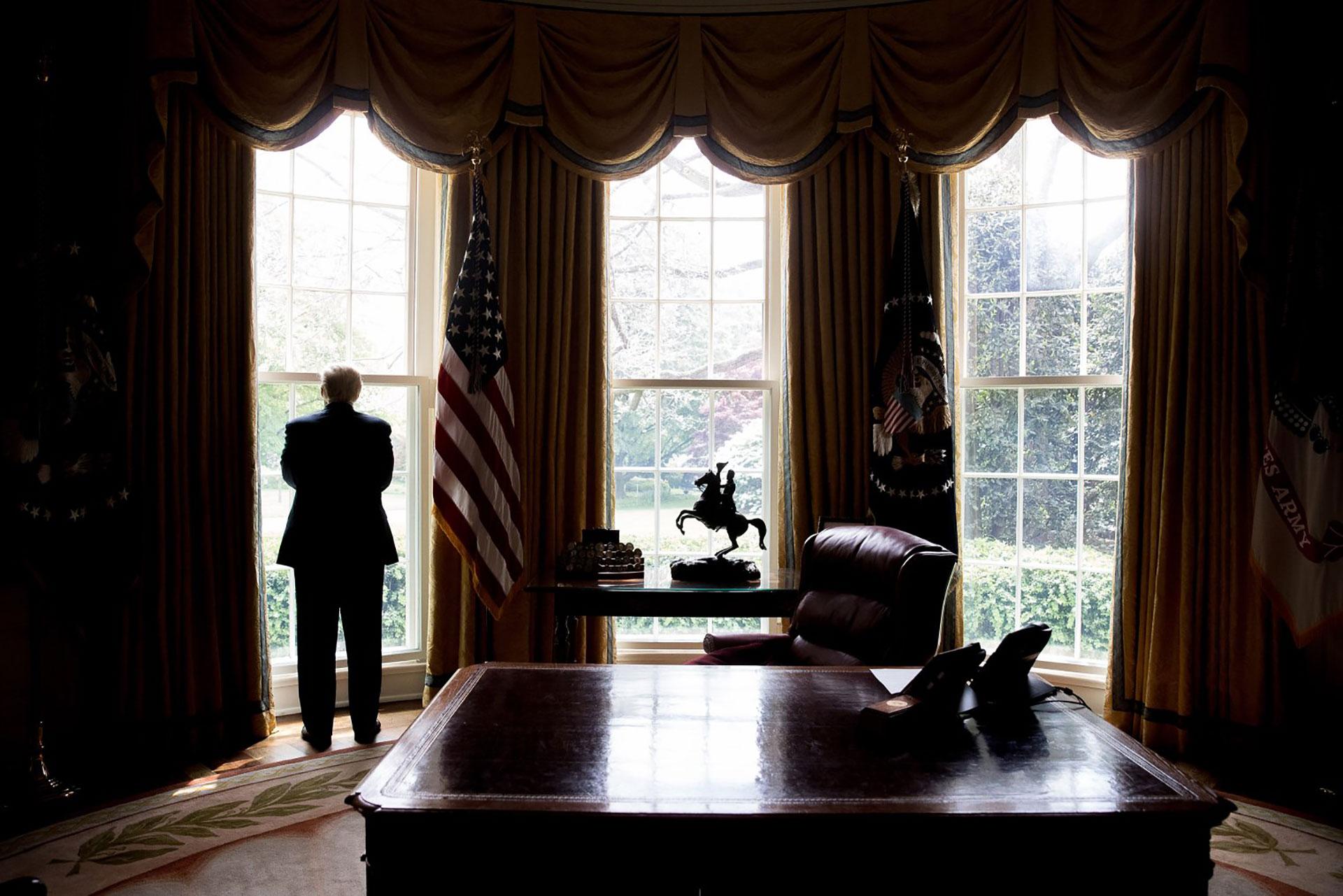 19/4/2017 Donald Trump en el Salón Oval