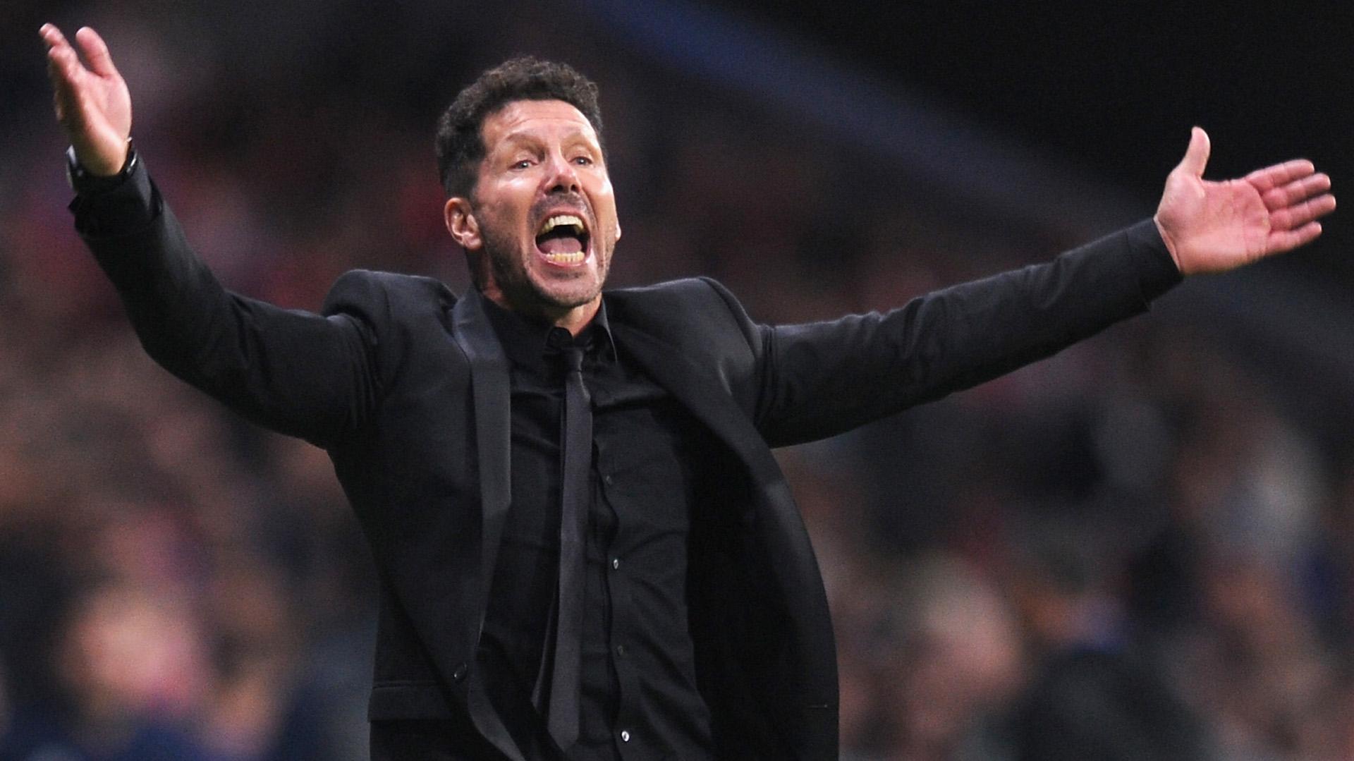 """El """"Cholo"""" actual, el apasionado entrenador del Atlético de Madrid (Getty)"""