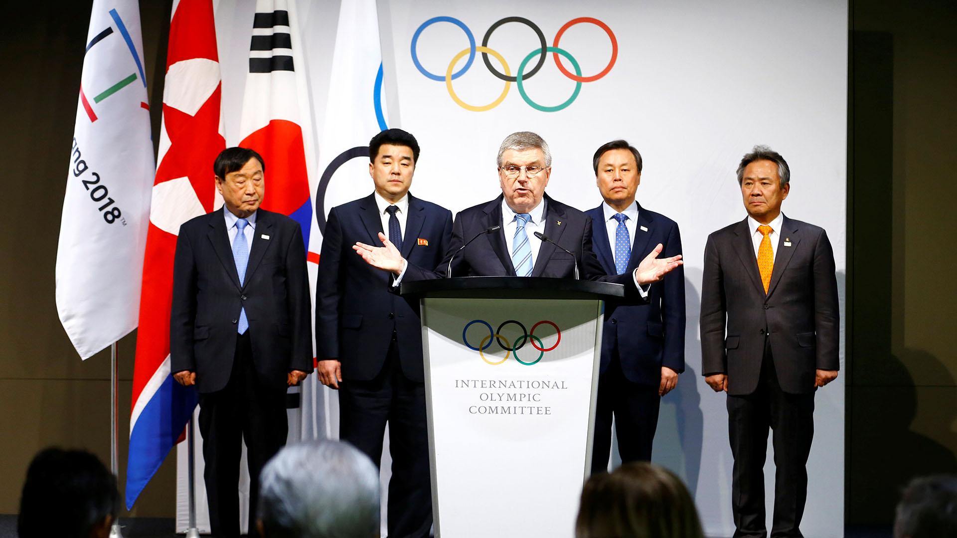 Thomas Bach, presidente del COI, anunció que habrá 22 atletas norcoreanos en Pyoengchang 2018 (Reuters)