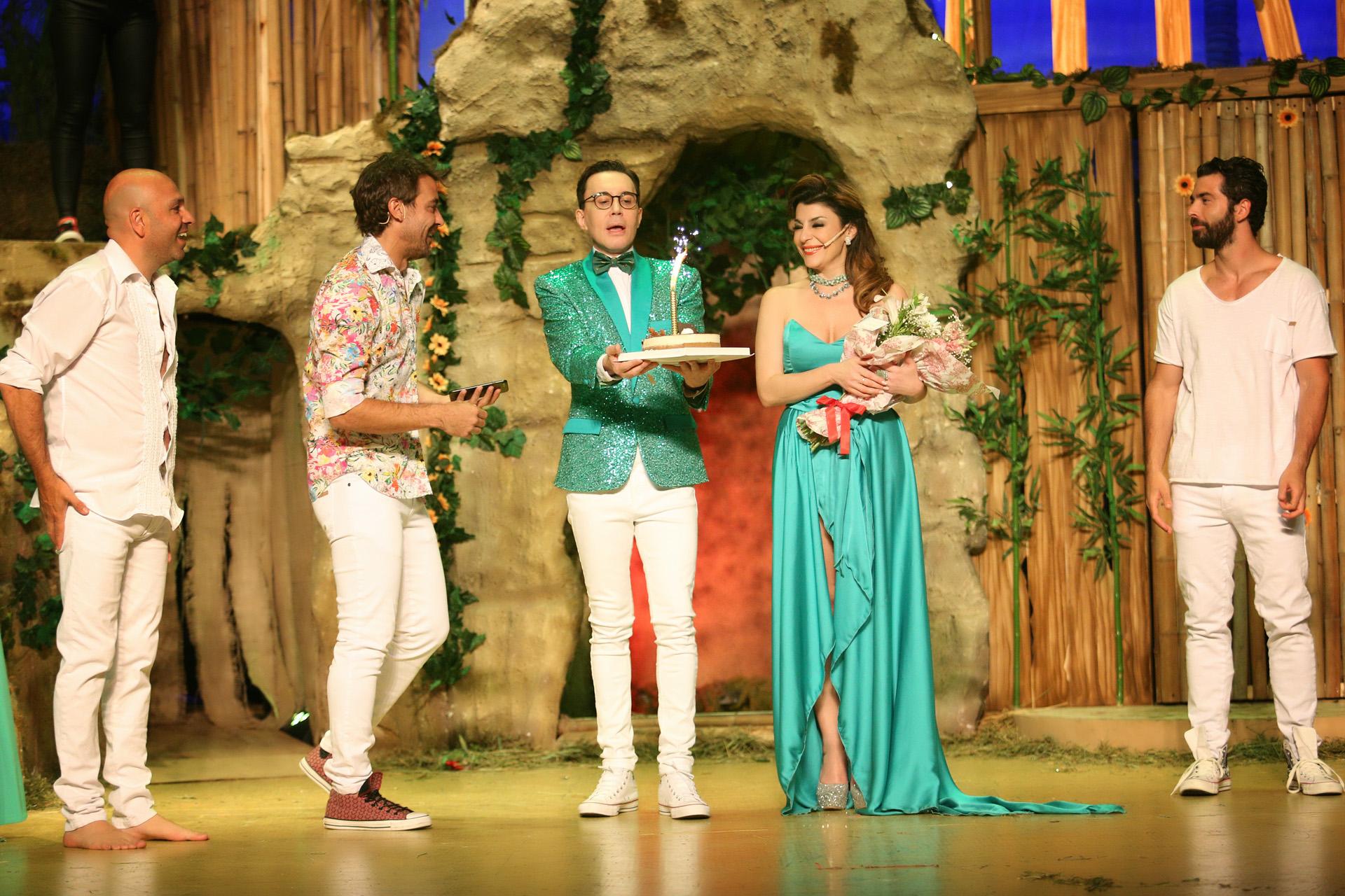 Junto a Nazareno Casero y Fredy Villarreal, también integrantes del elenco