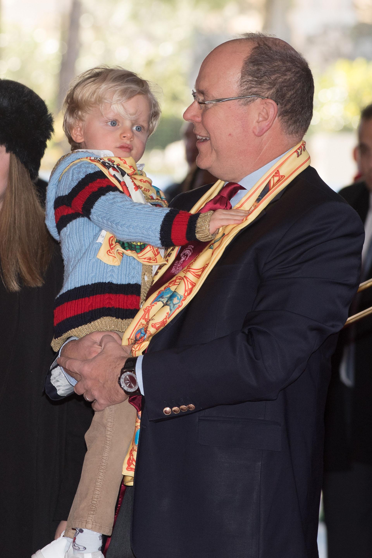 Alberto de Mónaco junto a su hijo Jacques, el futuro sucesor al trono