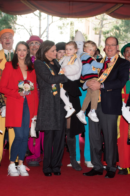 Todos los años, la familia real participa del Festival Internacional de Circo de Monte Carlo, uno de los eventos más importantes del calendario monegasco
