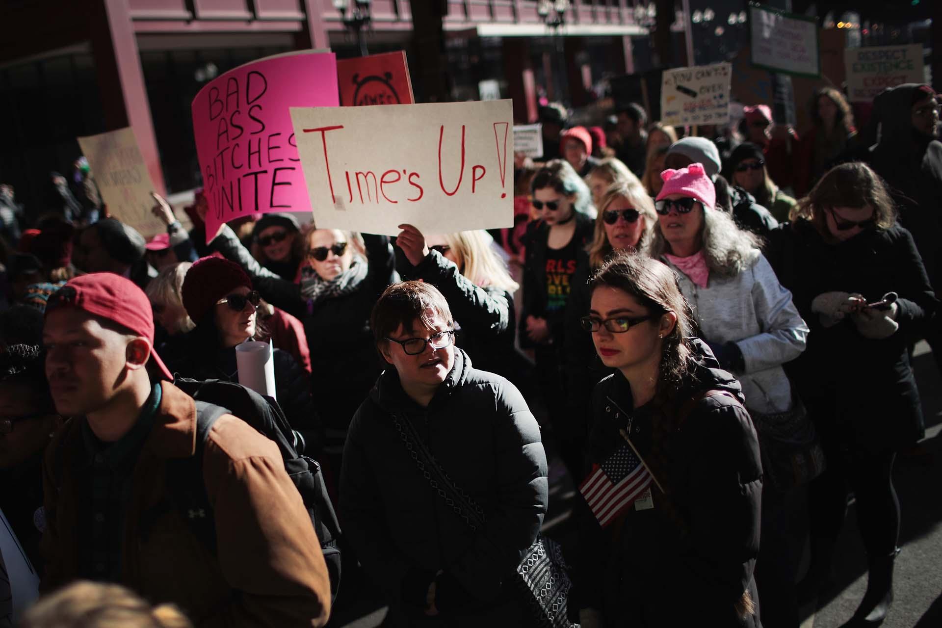 Miles de mujeres marcharon en todos los EEUU por la igualdad de género (Scott Olson/Getty Images/AFP)