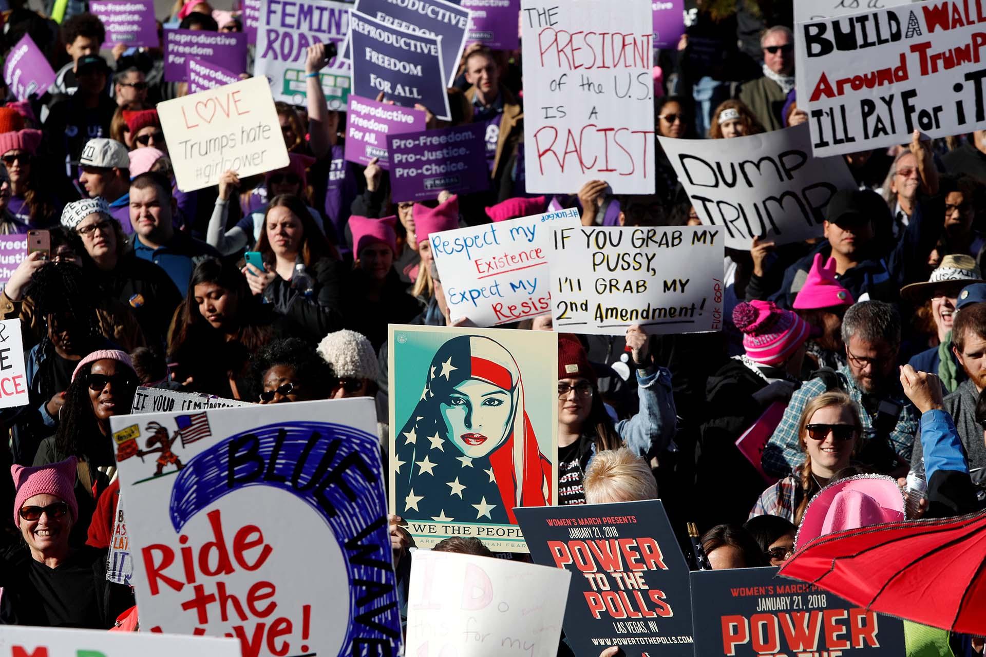 Las mujeres llenaron el estadio Sam Boyd de Las Vegas (Reuters)