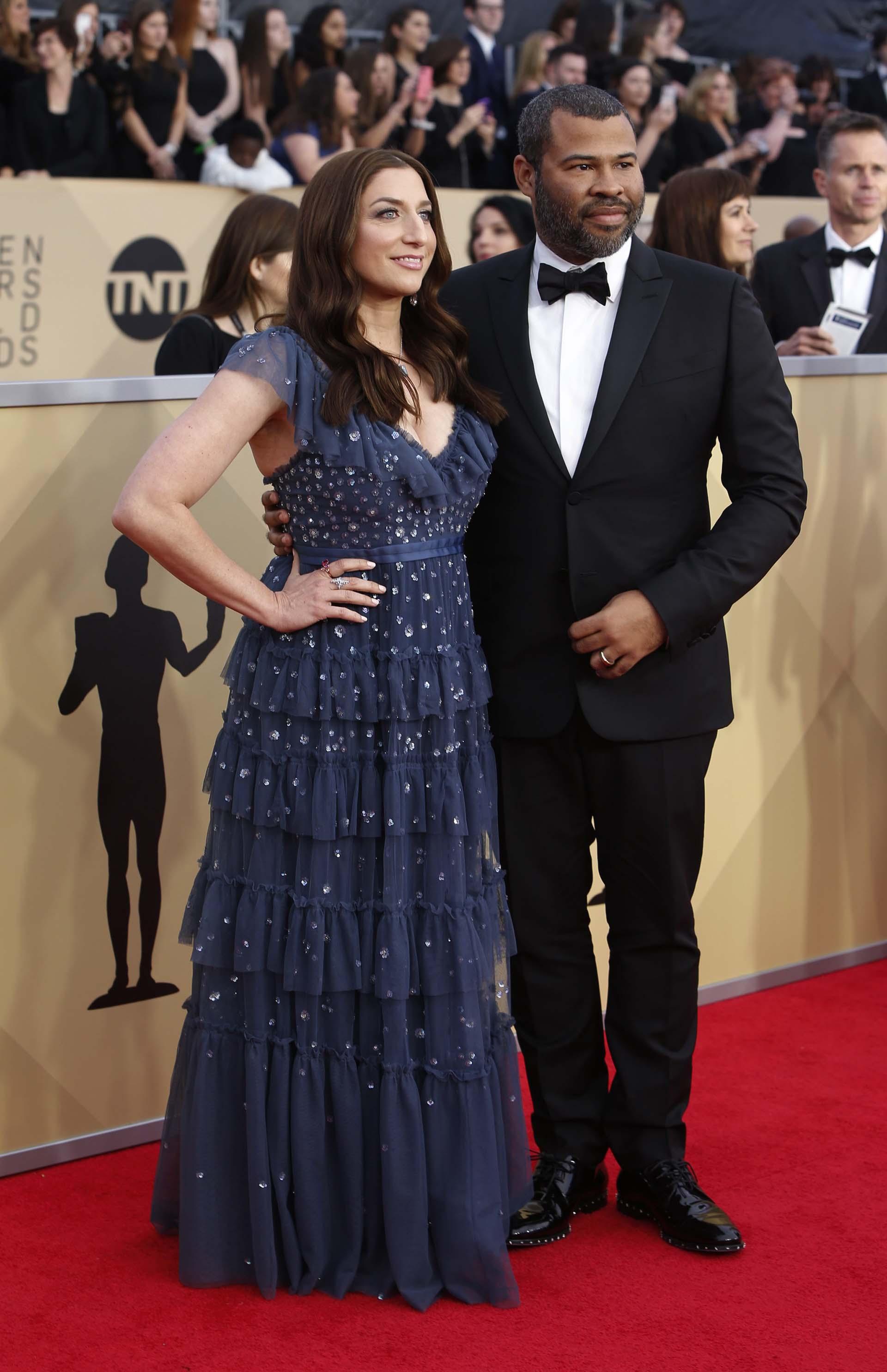 Chelsea Peretti y Jordan Peele (REUTERS/Monica Almeida)