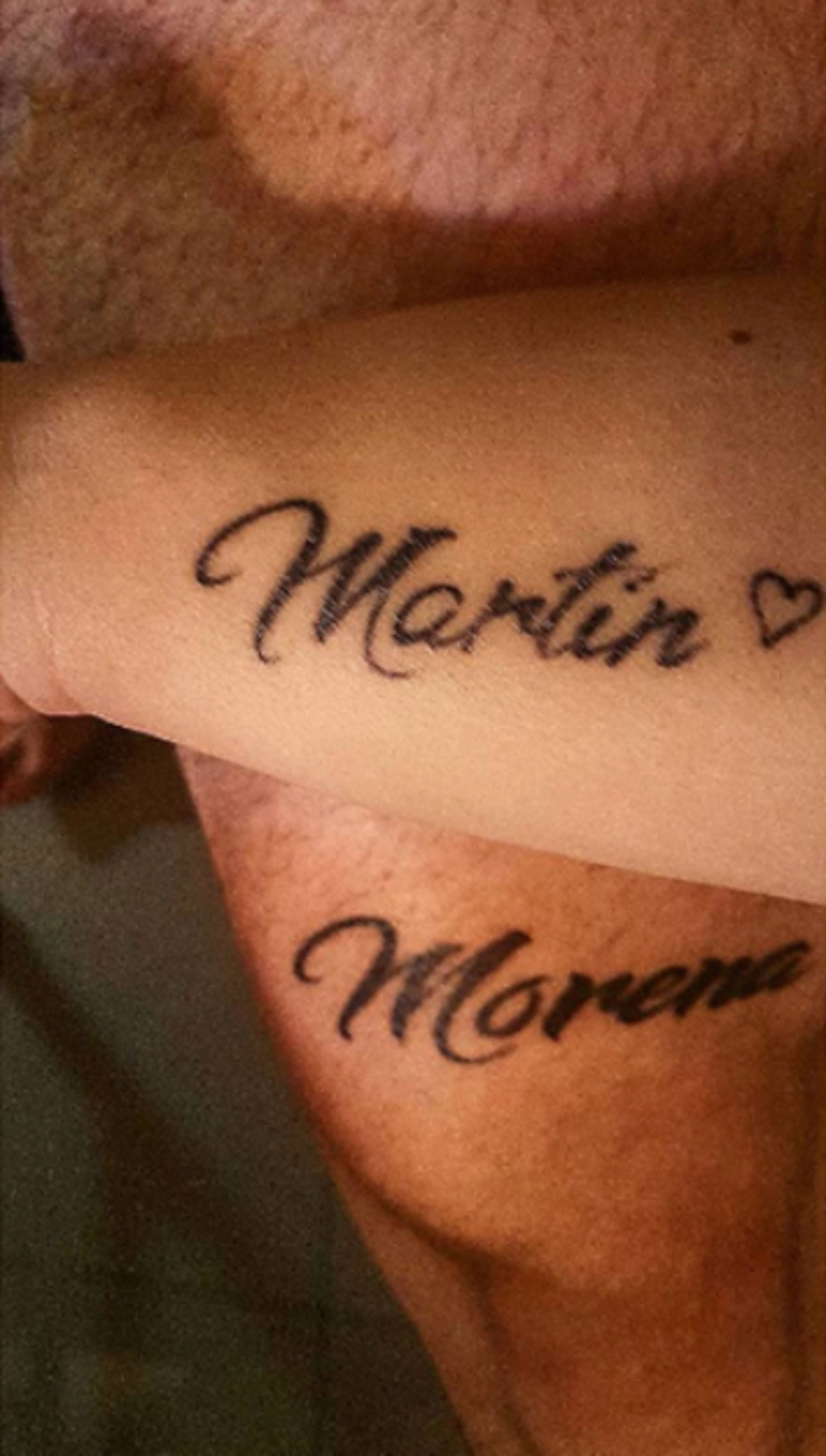 El tatuaje que se hicieron los jóvenes en mayo de 2017