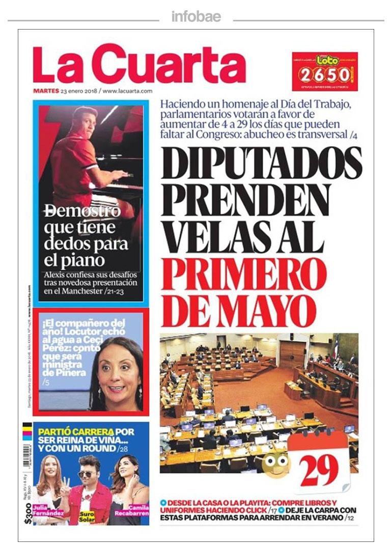 La cuarta, Chile, 23 de enero de 2018 | FM Laser 103.5 - Tucumán