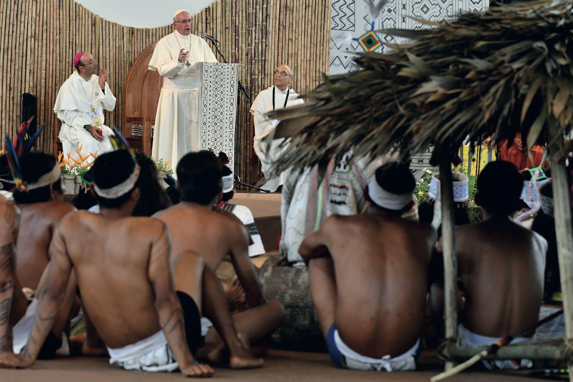 El discurso del papa a las comunidades del Amazonas de Peru, Brasil y Bolivia