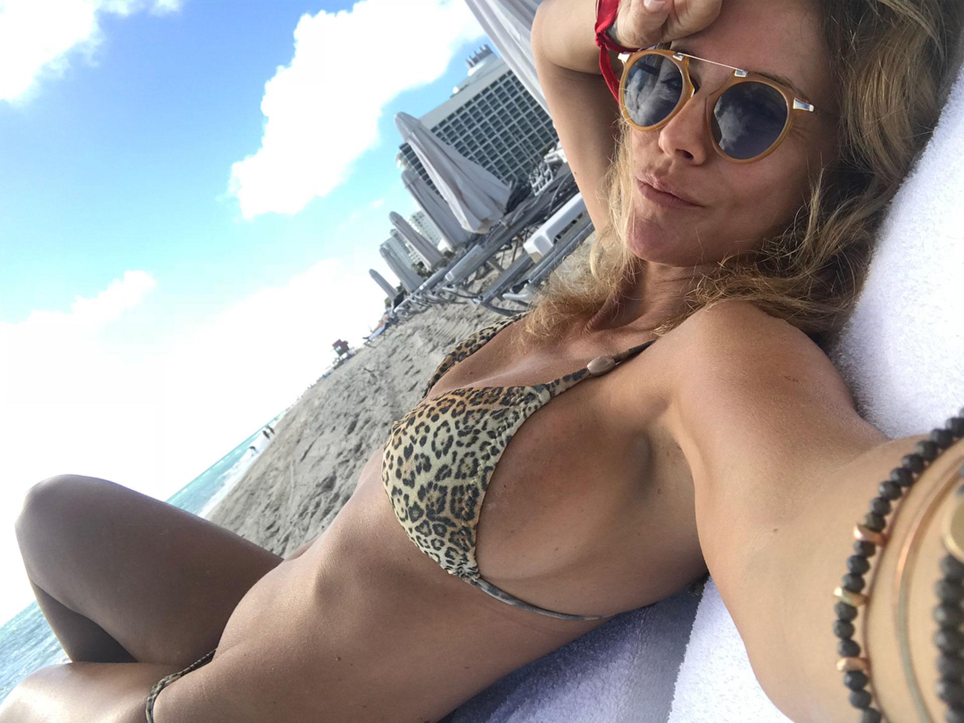 Desde las playas de Miami hizo delirar a sus seguidores en las redes. (Foto: Instagram)
