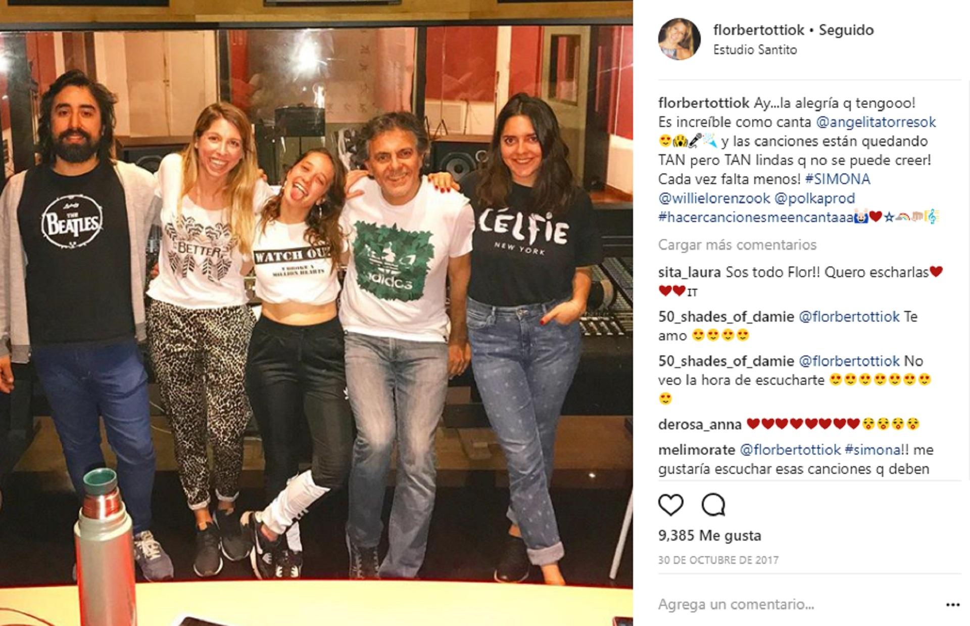 """Flor Bertotti escribió algunas canciones para Ángela Torres en """"Simona"""""""