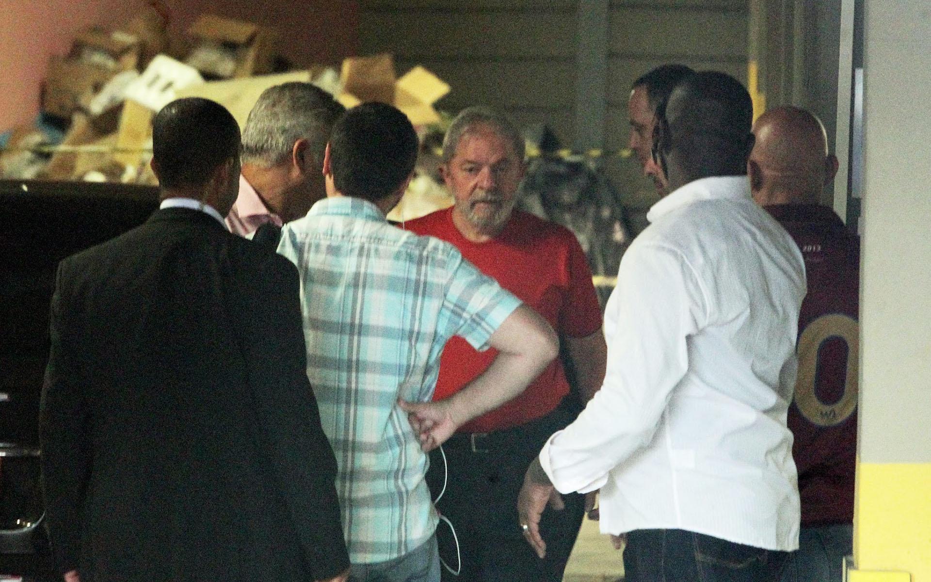 El ex presidente sigue el juicio desde el sindicato de los metalúrgicos de Sao Bernardo do Campo (Estadao)