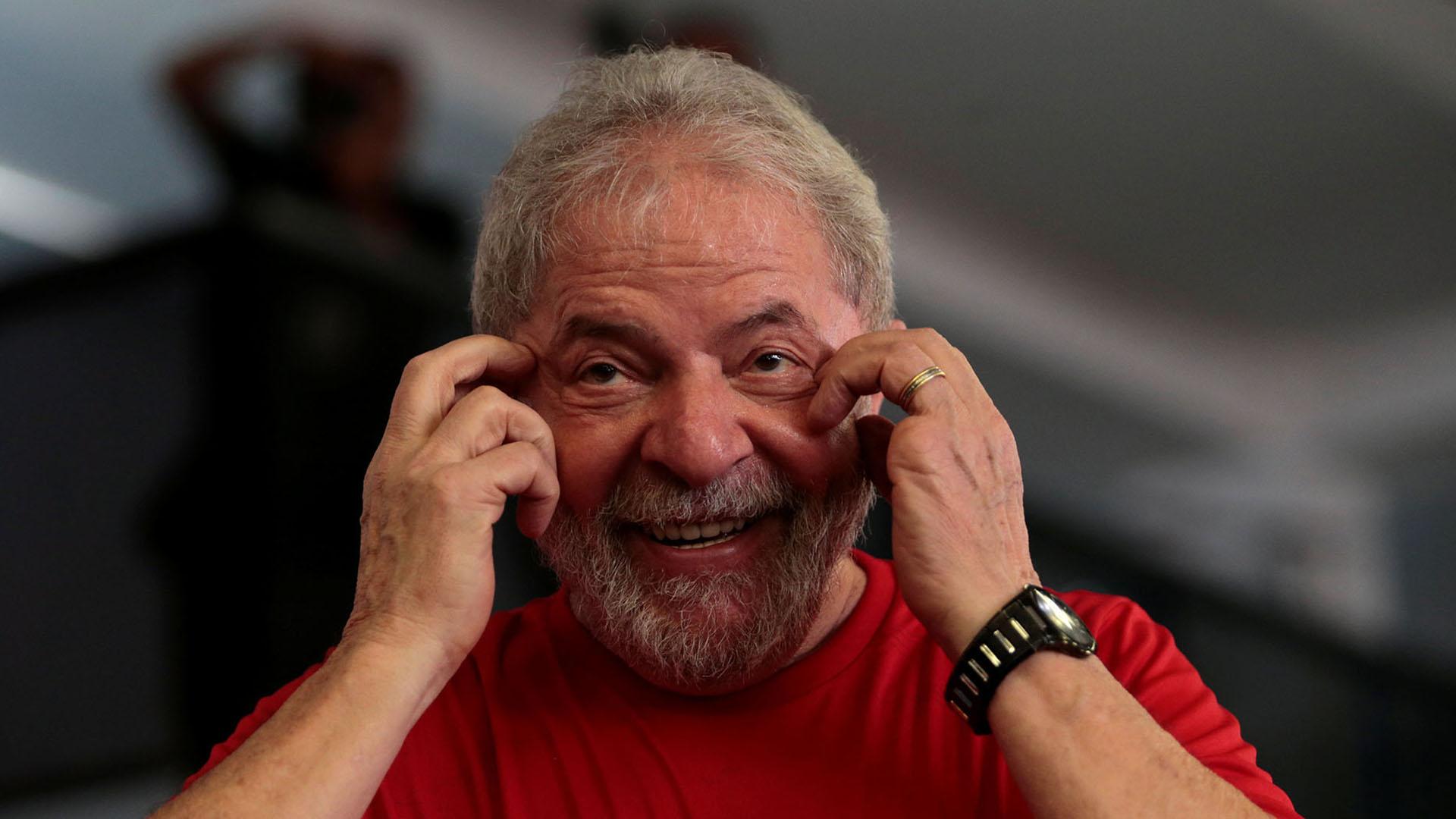Lula en el sindicato de los metalúrgicos (Reuters)