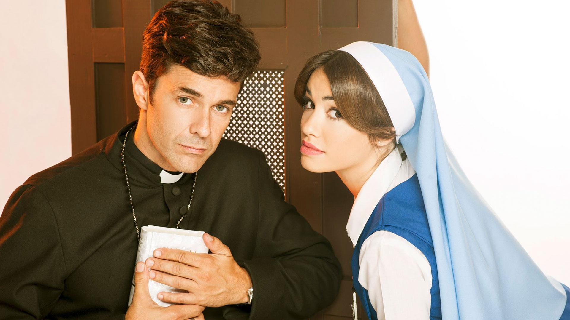 Junto a Mariano Martínez, su pareja en la ficción y luego también en la realidad (Crédito de Foto: NA)