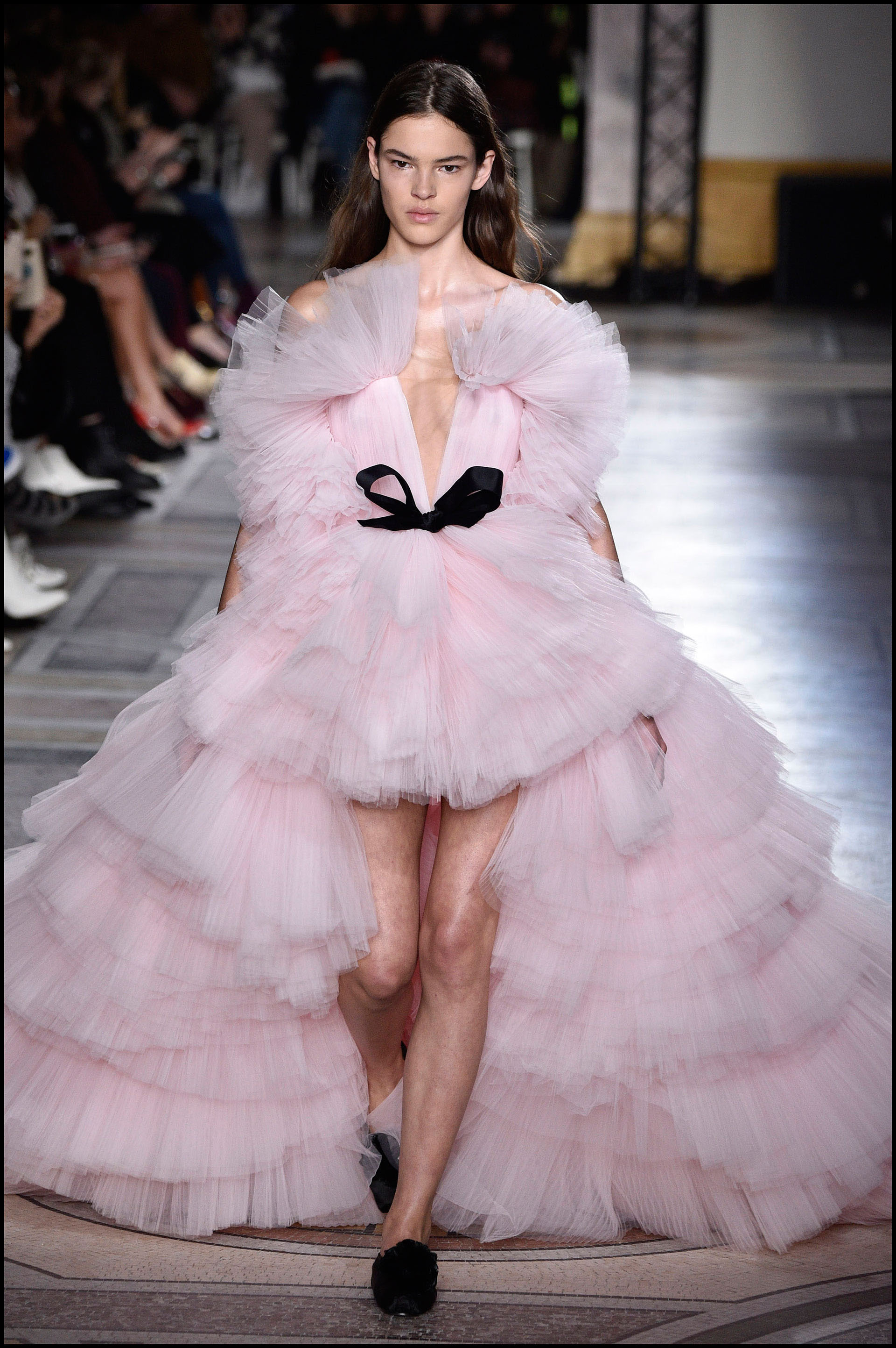 Vestidos que parecían un gran algodón de azúcar.