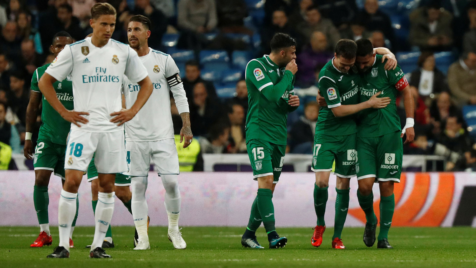 El Leganés terminó de hundir al Real Madrid al eliminarlo de la Copa del Rey (Reuters)
