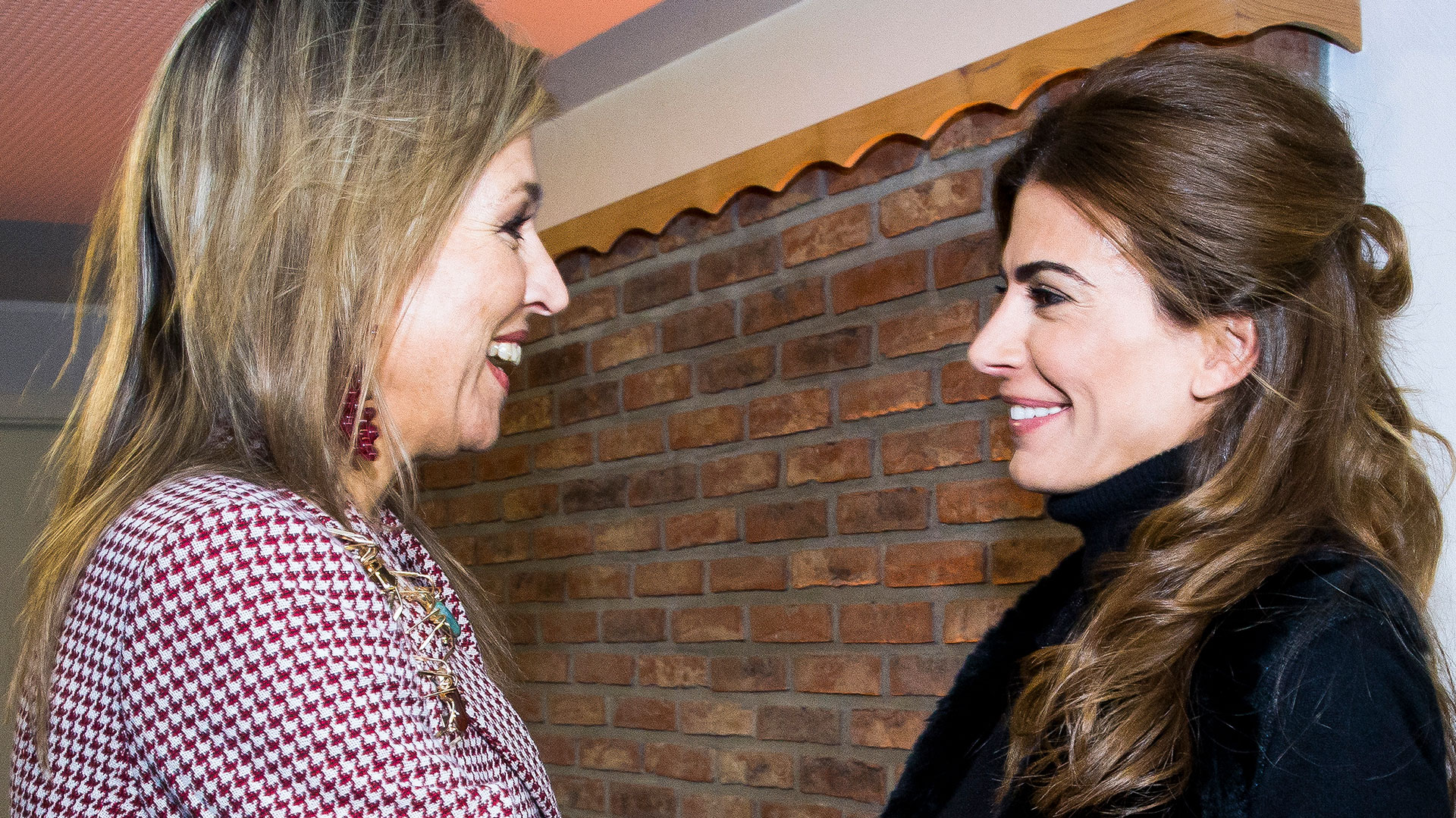Juliana Awada con la reina Máxima de Holanda en la Casa Argentina en Davos