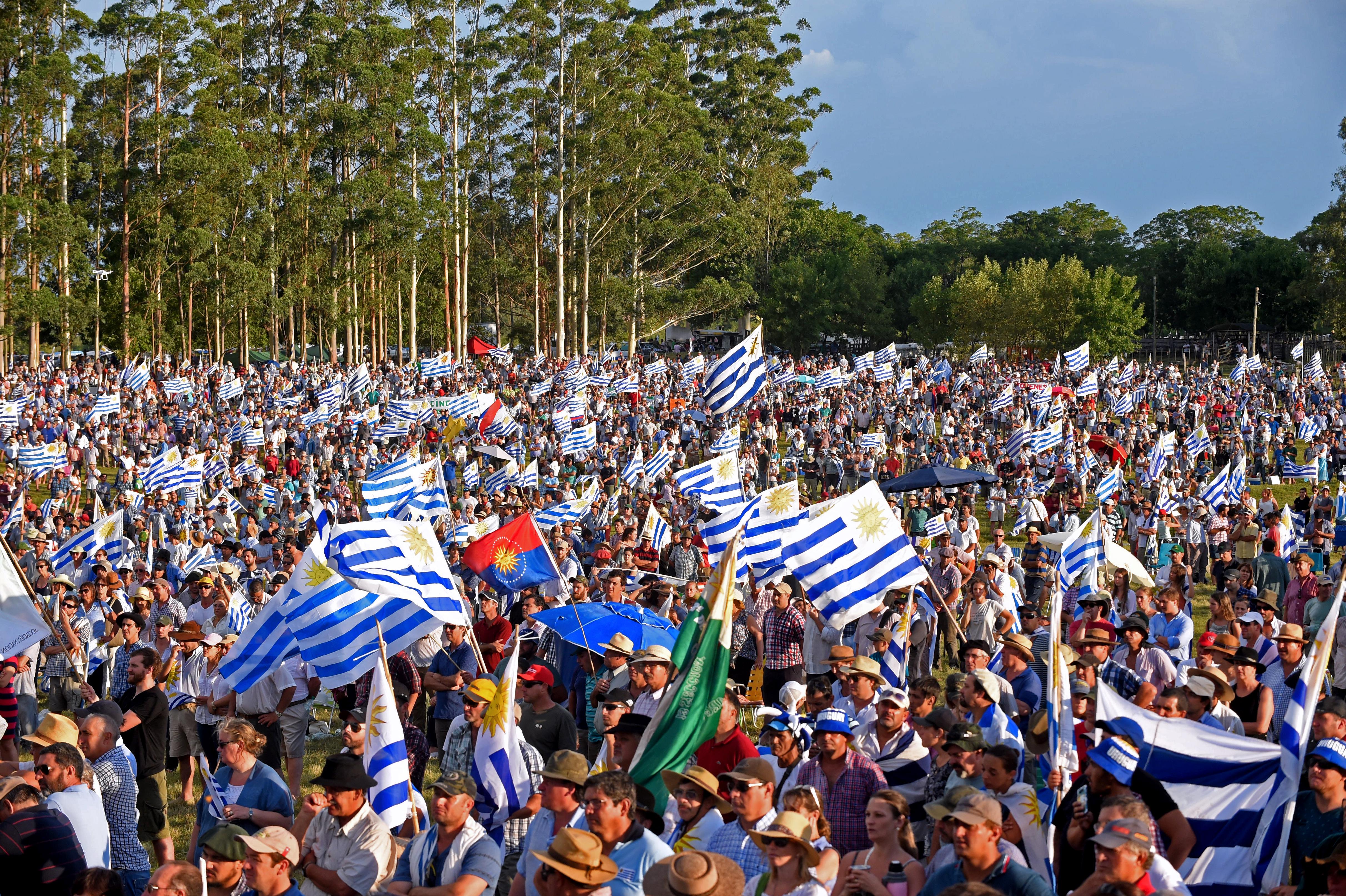 Las protestas del campo en Uruguay (AFP)