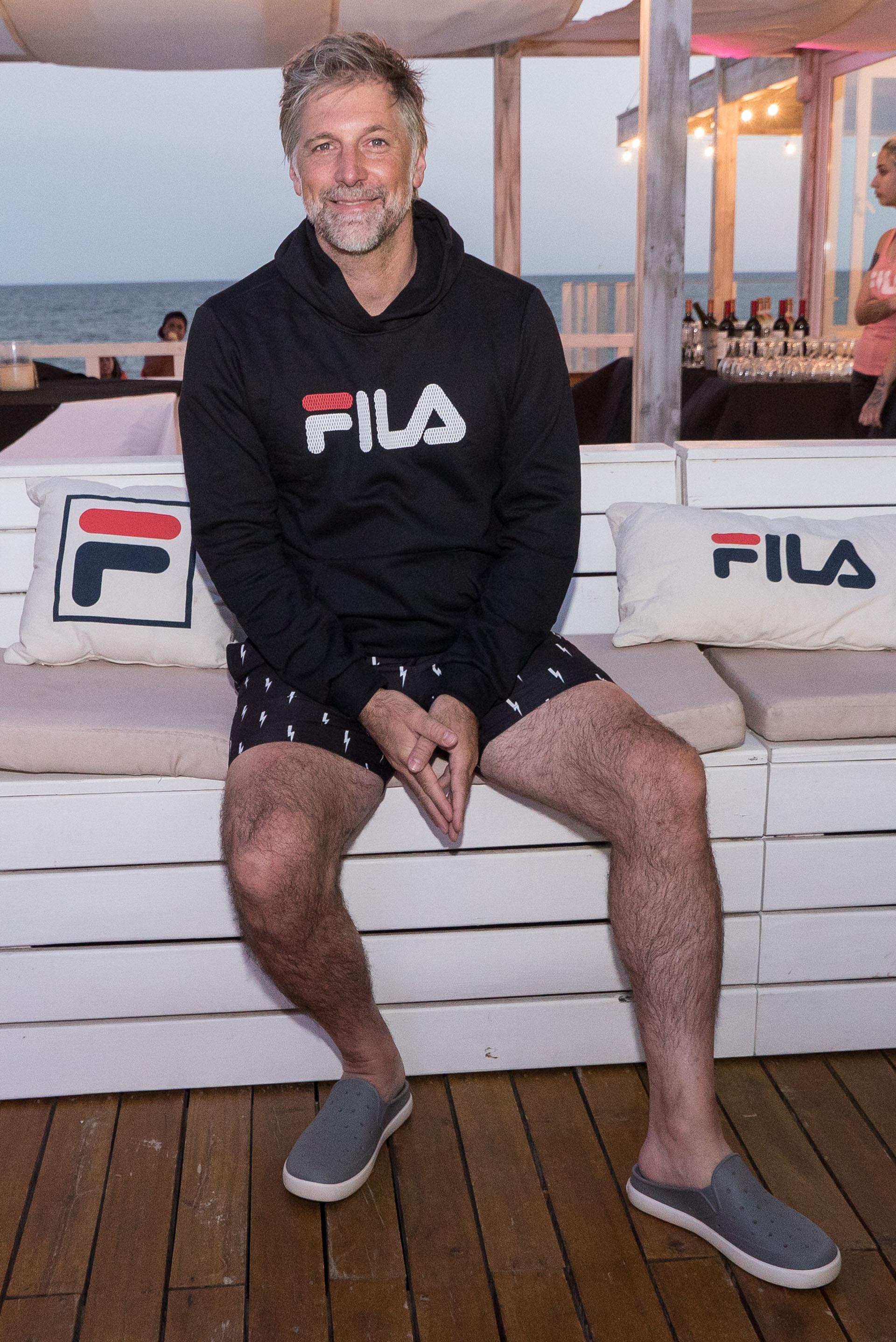 Fila celebró su tradicional after beach, junto a las celebridades fitness que acompañan a la marca deportiva. En la foto, Horacio Cabak