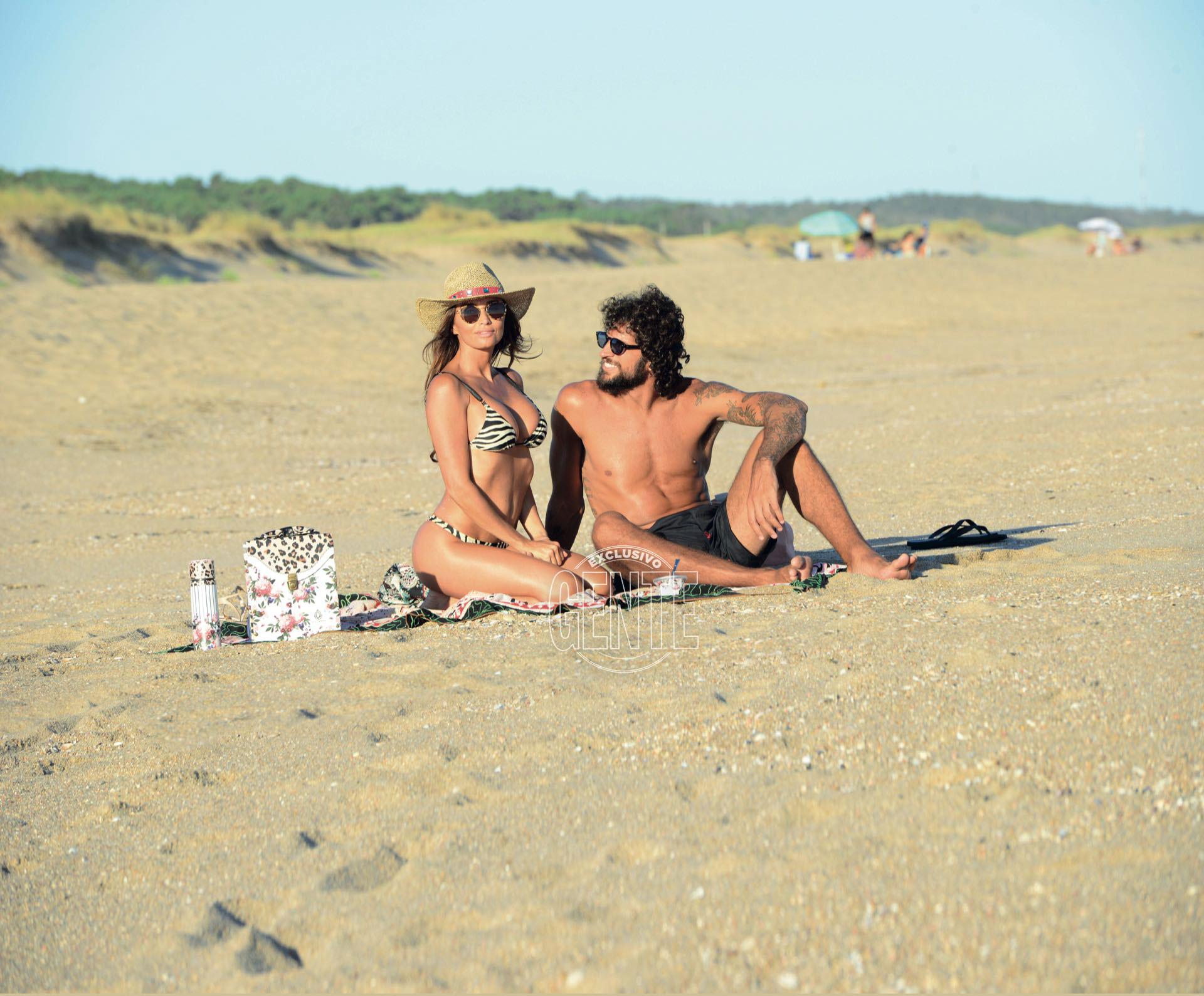 Paz Cornú y su novio Diego Orden en Punta del Este (Foto: Alejandro Carra/GENTE)