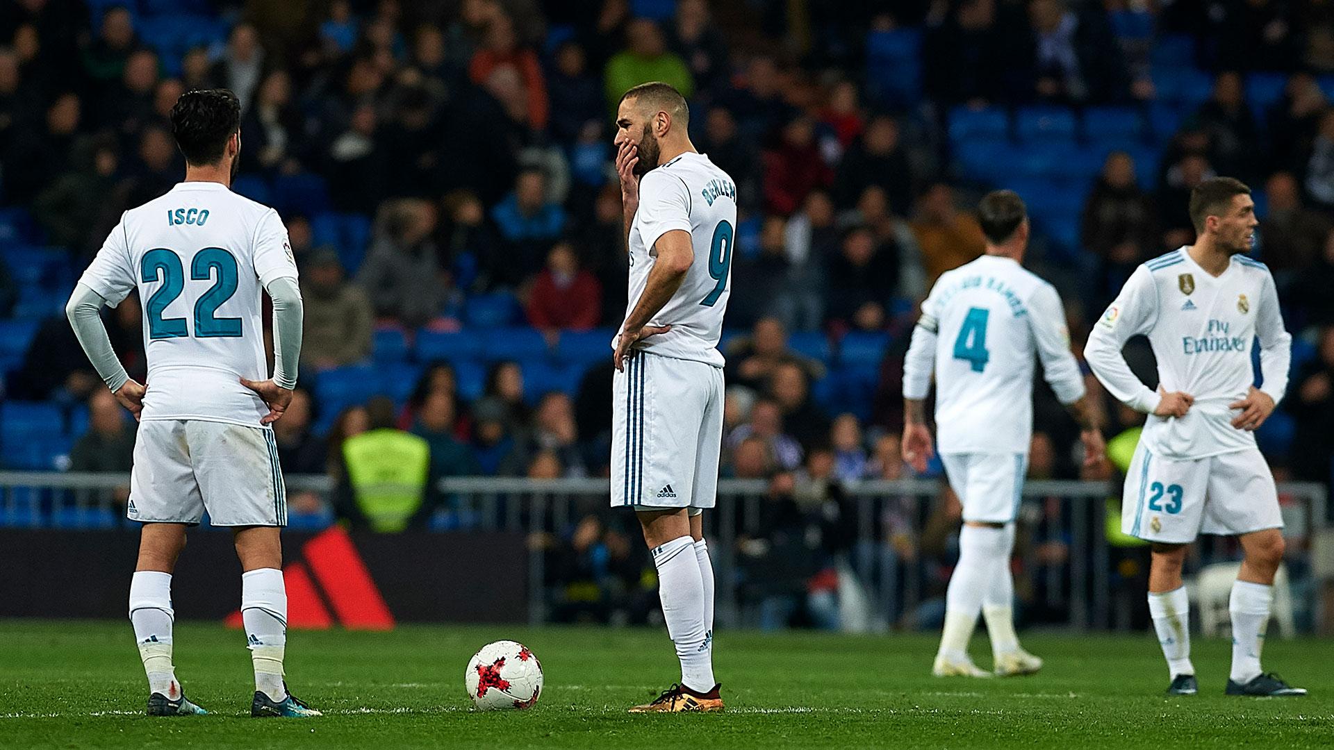 Los jugadores del Real Madrid no muestran reacción ante su grave crisis (Getty Images)