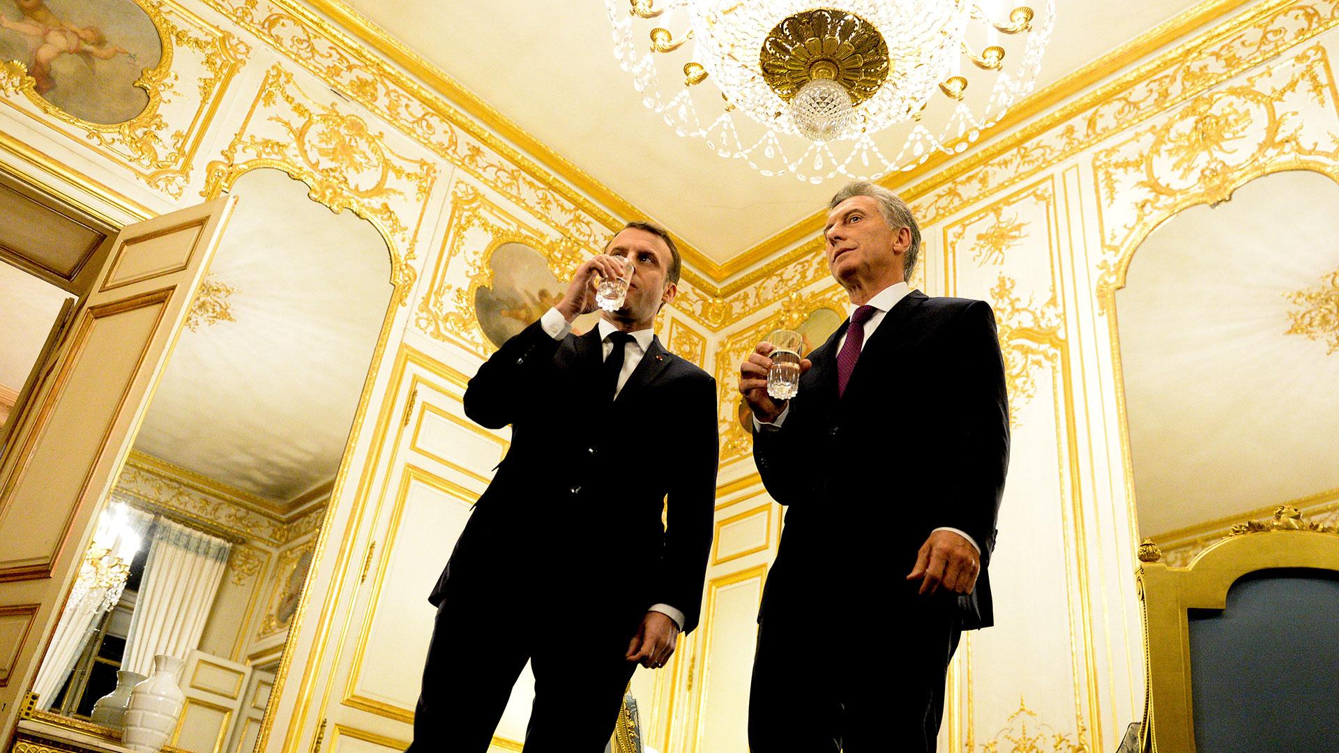 Los presidentes de Francia y Argentina estuvieron reunidos este viernes