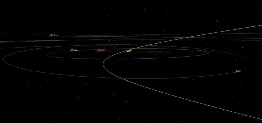 La trayectoria del asteroide 2002 AJ129 no presenta peligro para el planeta. (NASA)