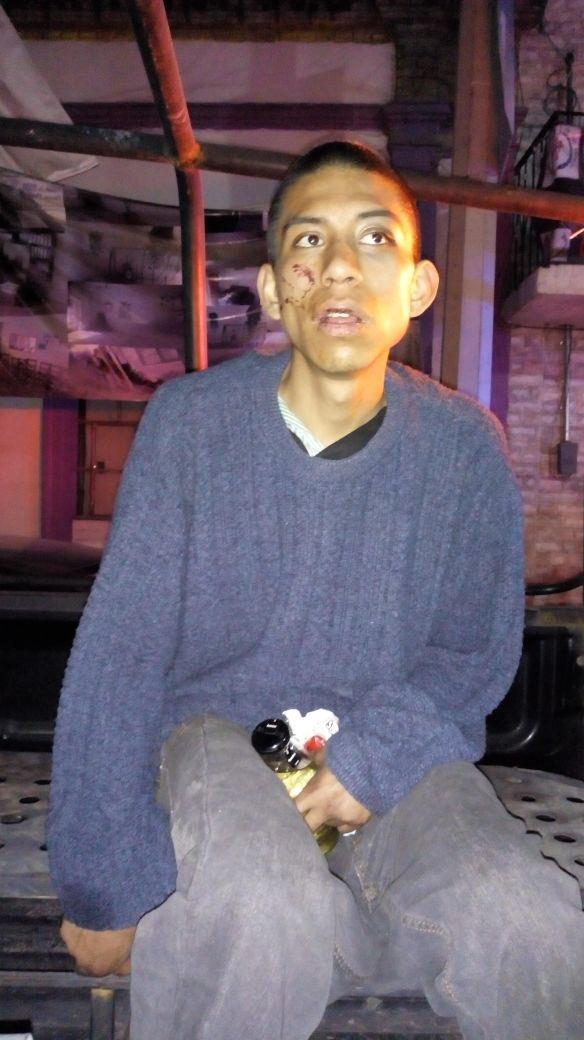 Así fue encontrado Marco Antonio Sánchez Flores (Twitter Carlos Jimenéz/ @c4jimenez)