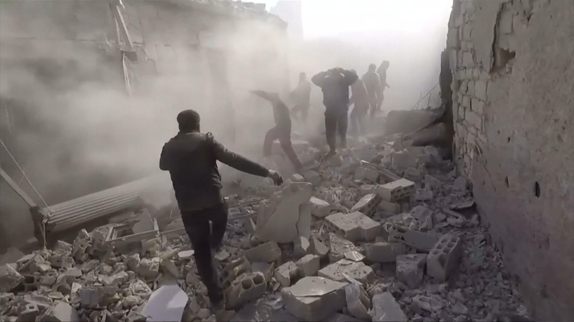 Un bombardeo del gobierno sirio en Idlib