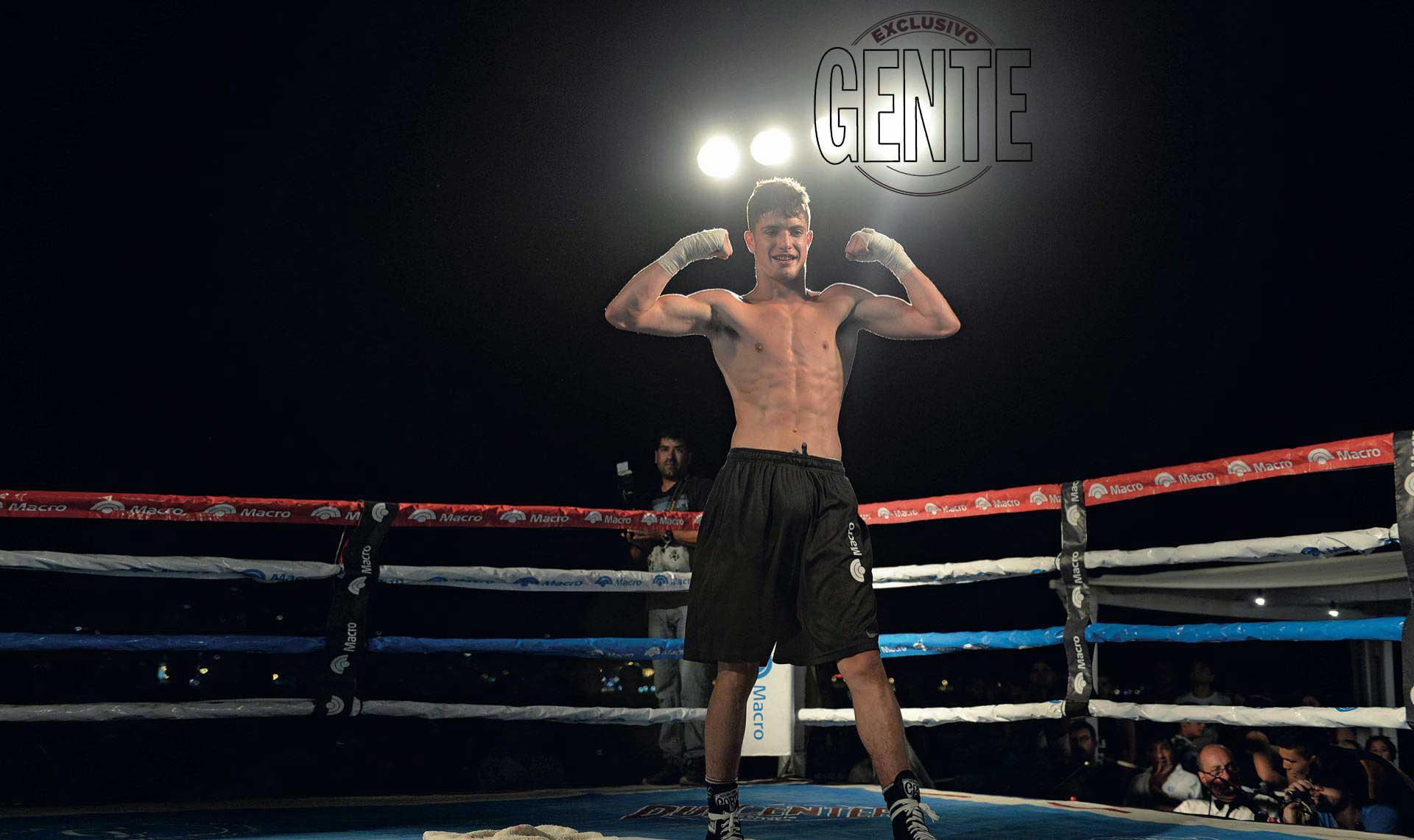 Mateo Castro en el ring. (Foto Diego García/GENTE)