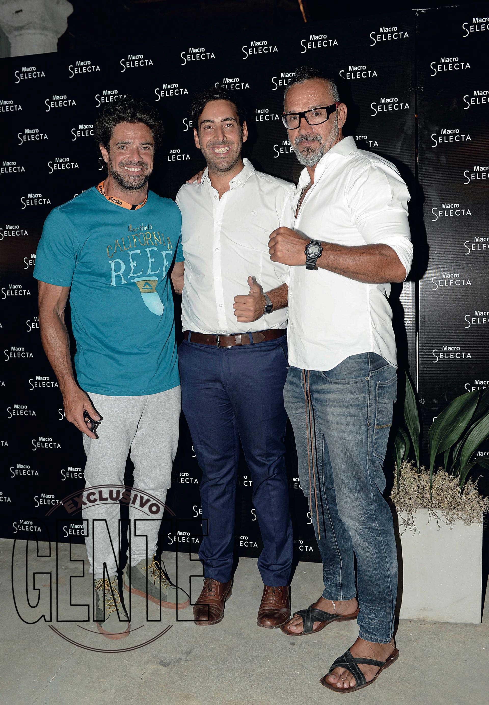 Luciano Catro con Charly Rodríguez, entrenador de Mateo y amigo del actor. (Foto Diego García/GENTE)
