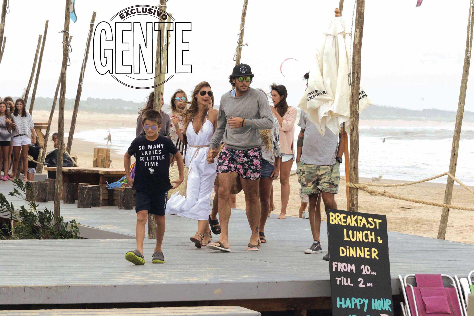 Pampita y Pico su última salida en Punta del Este (Foto: Gentileza Amex Beach Club)
