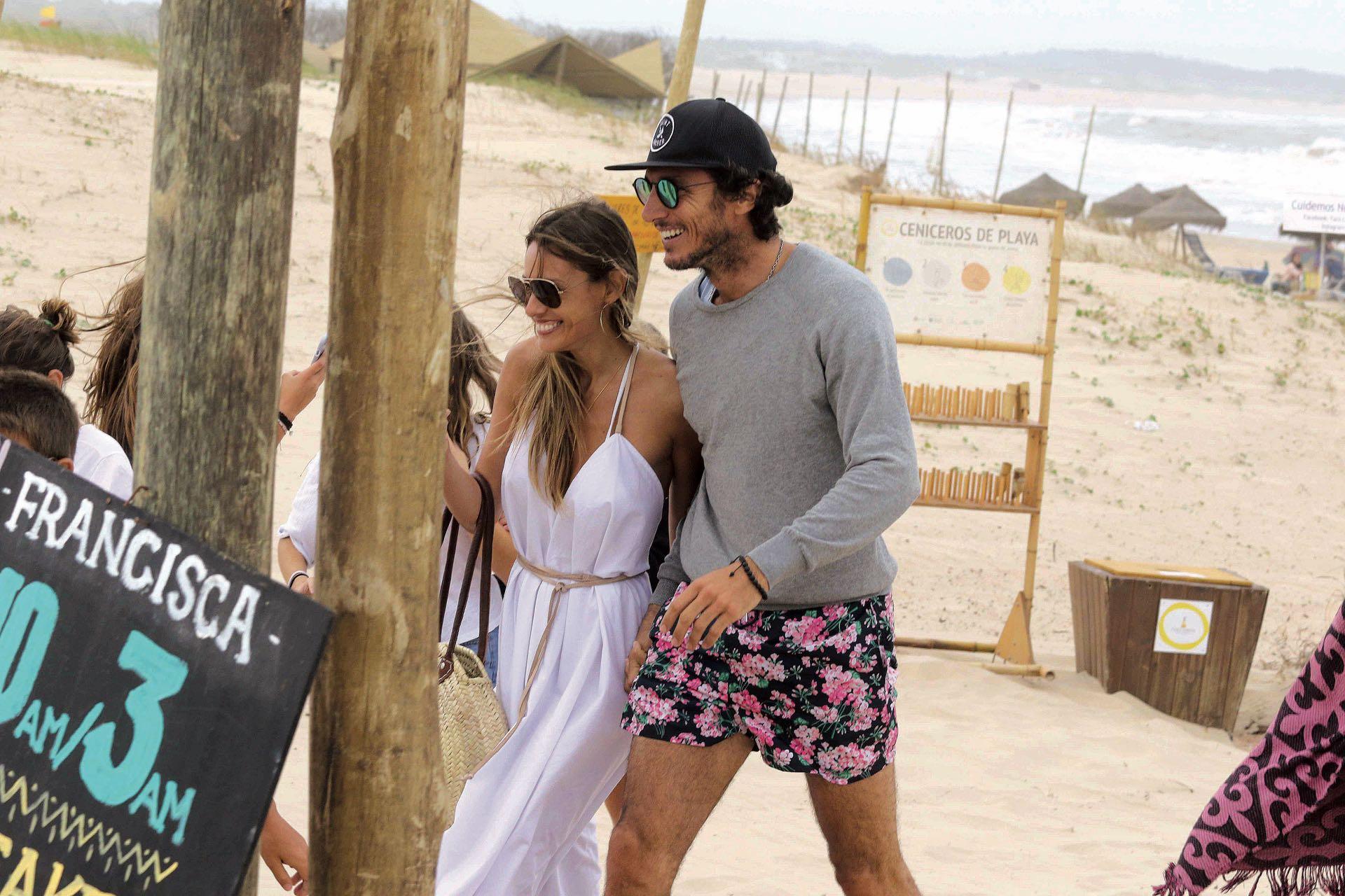 Pampita y Pico (Foto: gentileza Amex Beach Club)