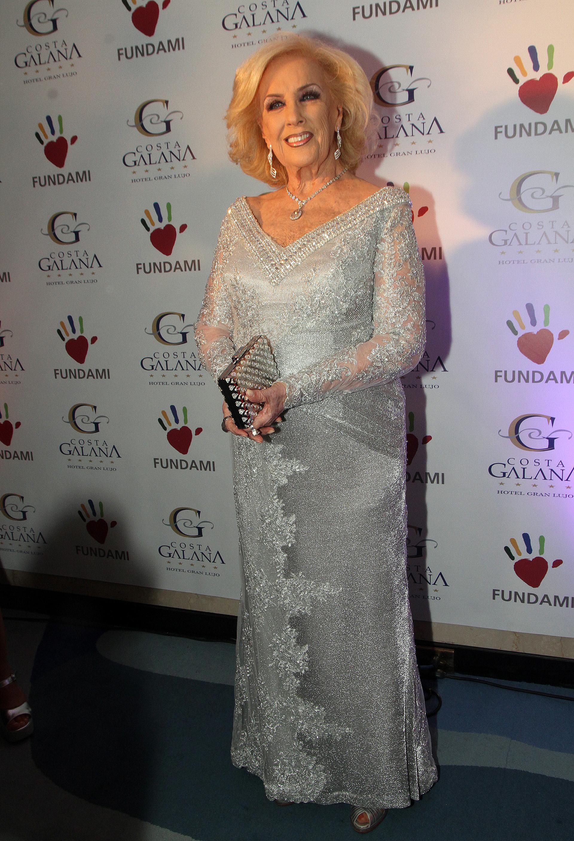 Mirtha Legrand fue la anfitriona en la gala solidaria que se realizó para FUNDAMI en el hotel Costa Galada