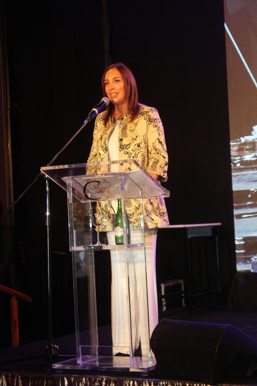 María Eugenia Vidal dio un discurso en la gala