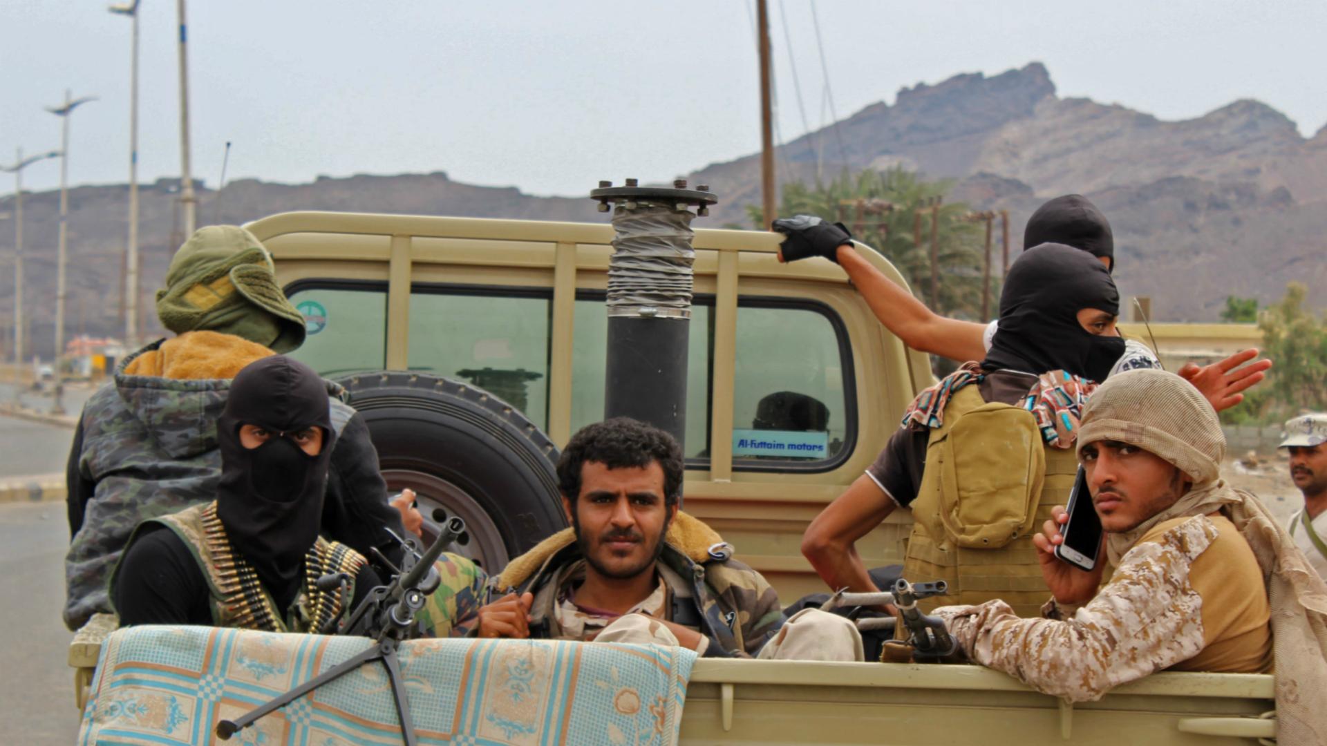 Separatistas en Adén (AFP)