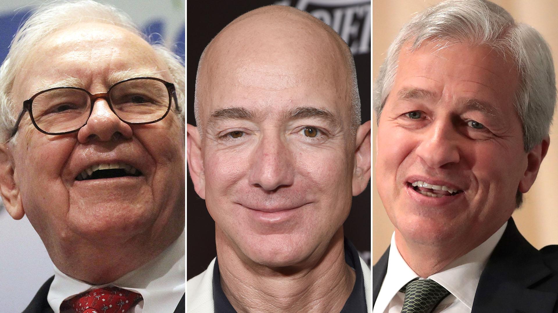 Warren E. Buffett, Jeff Bezos, James Dimon