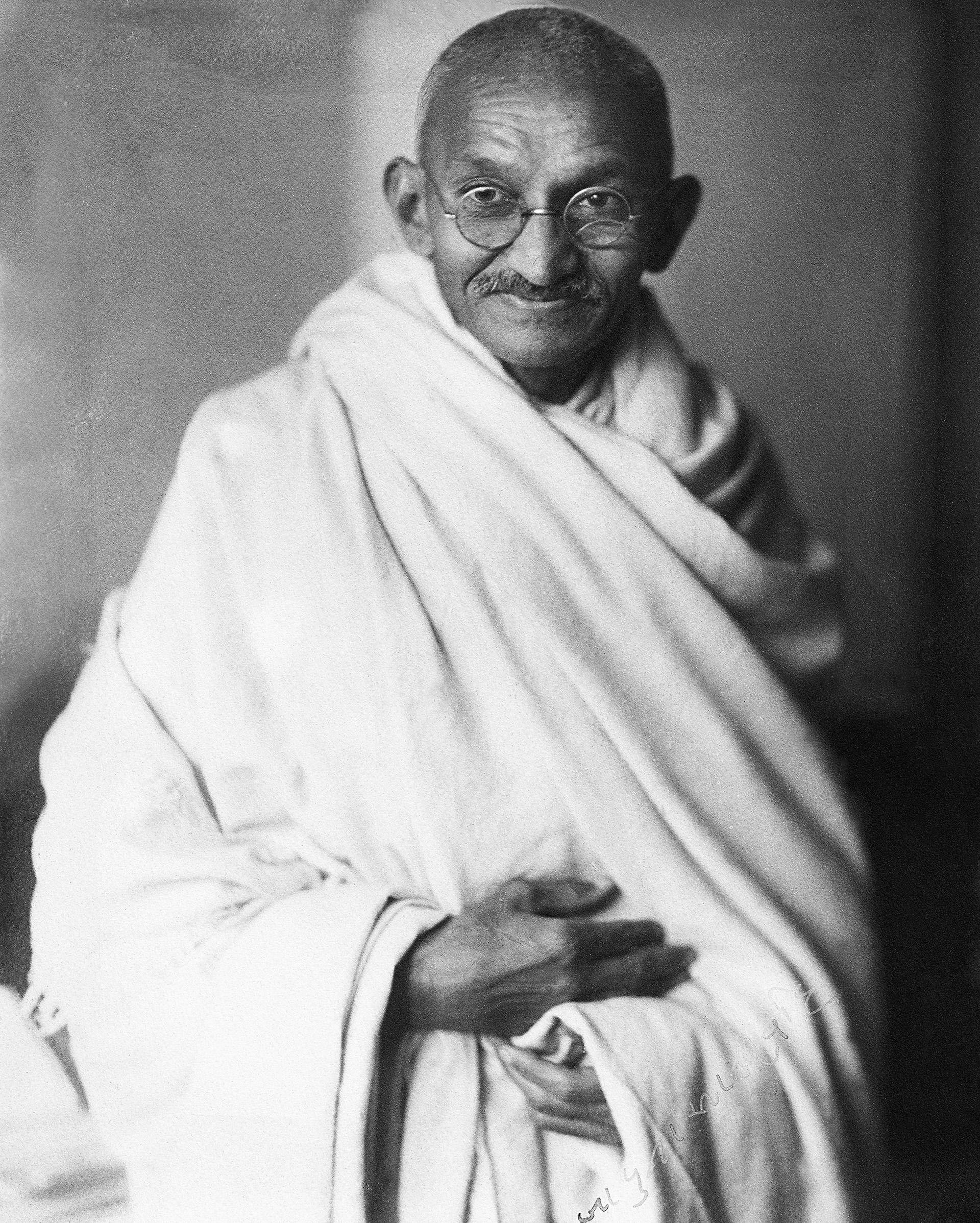 El activista estudió Derecho en Inglaterra durante su juventud.La foto es de 1940 (Dinodia Photos/Getty Images)