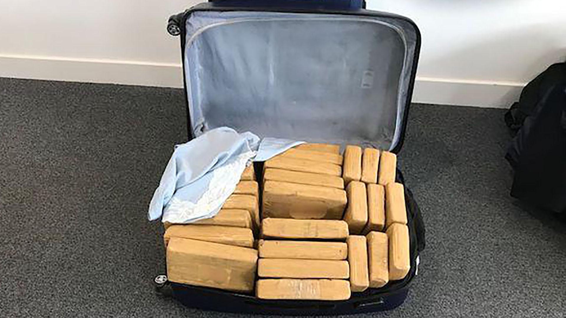 La droga estaba oculta en 15 maletas (Home Office Reino Unido)