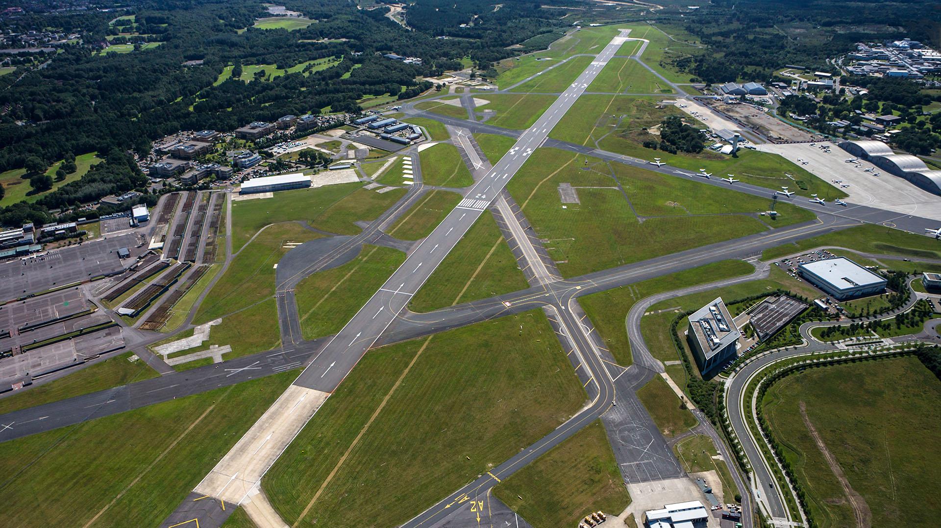 El aeropuerto de Farnborough (Getty)