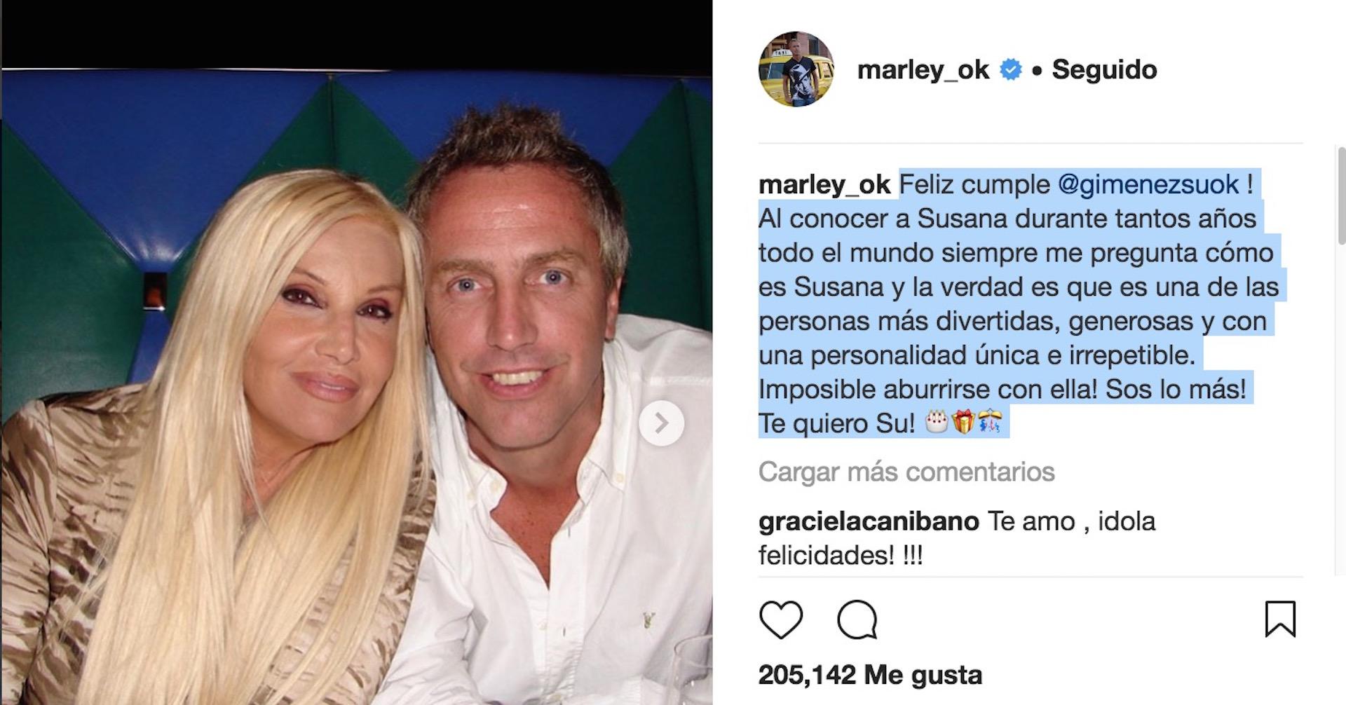 Las dulces palabras de Marley para la madrina de su hijo, Mirko.