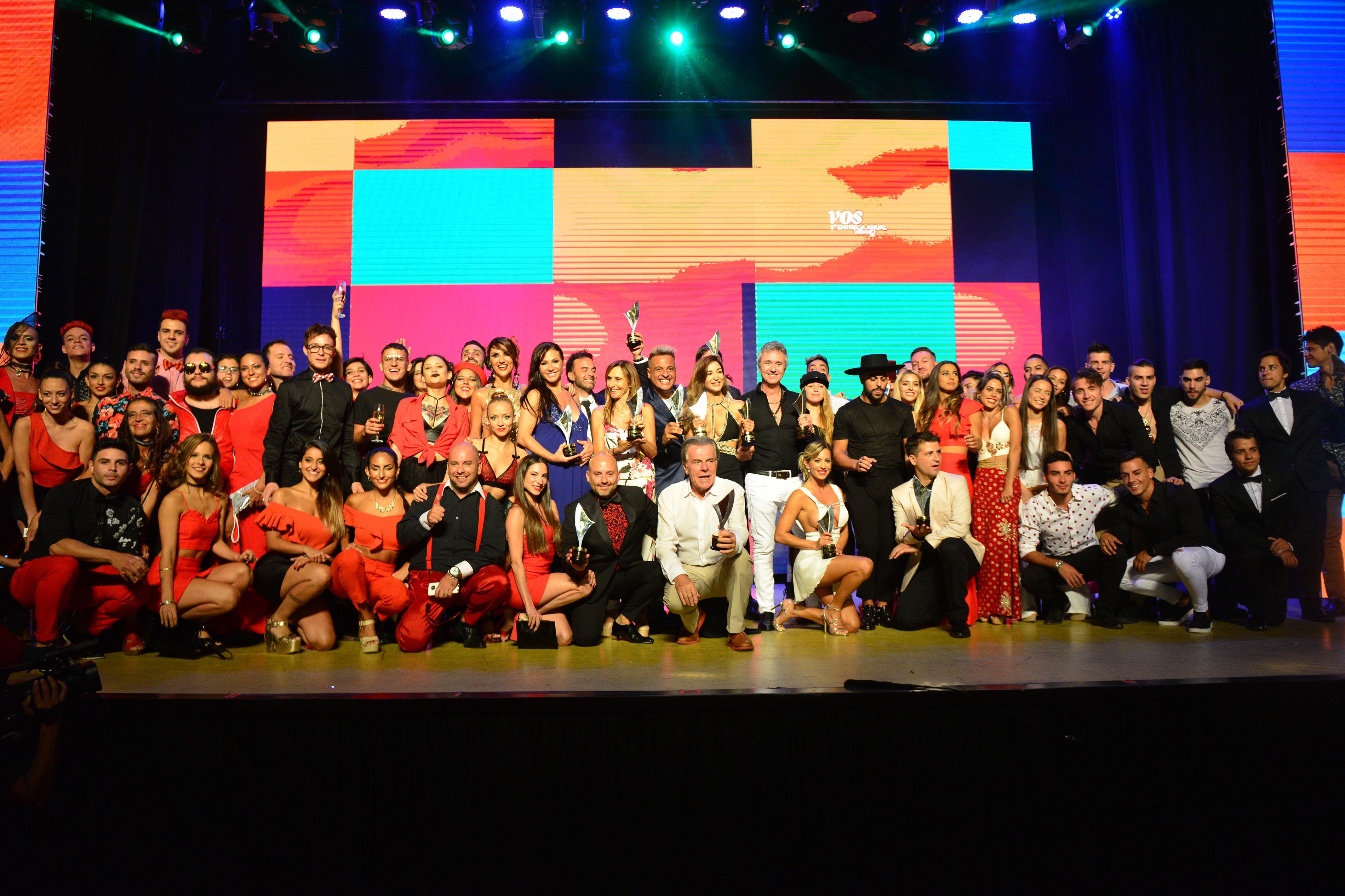 Todos los ganadores de los Premios Vos (Crédito: Mario Sar / Teleshow)
