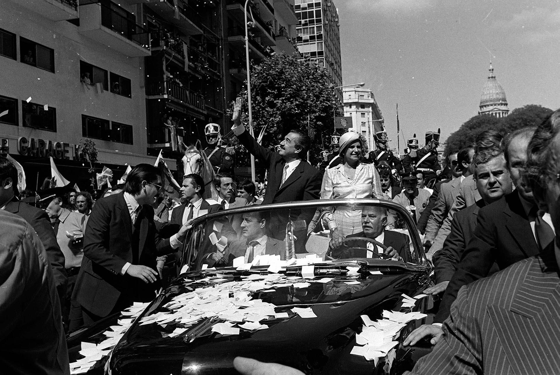 También lo hizo en el regreso de la democracia para transportar la figura de Raúl Alfonsín