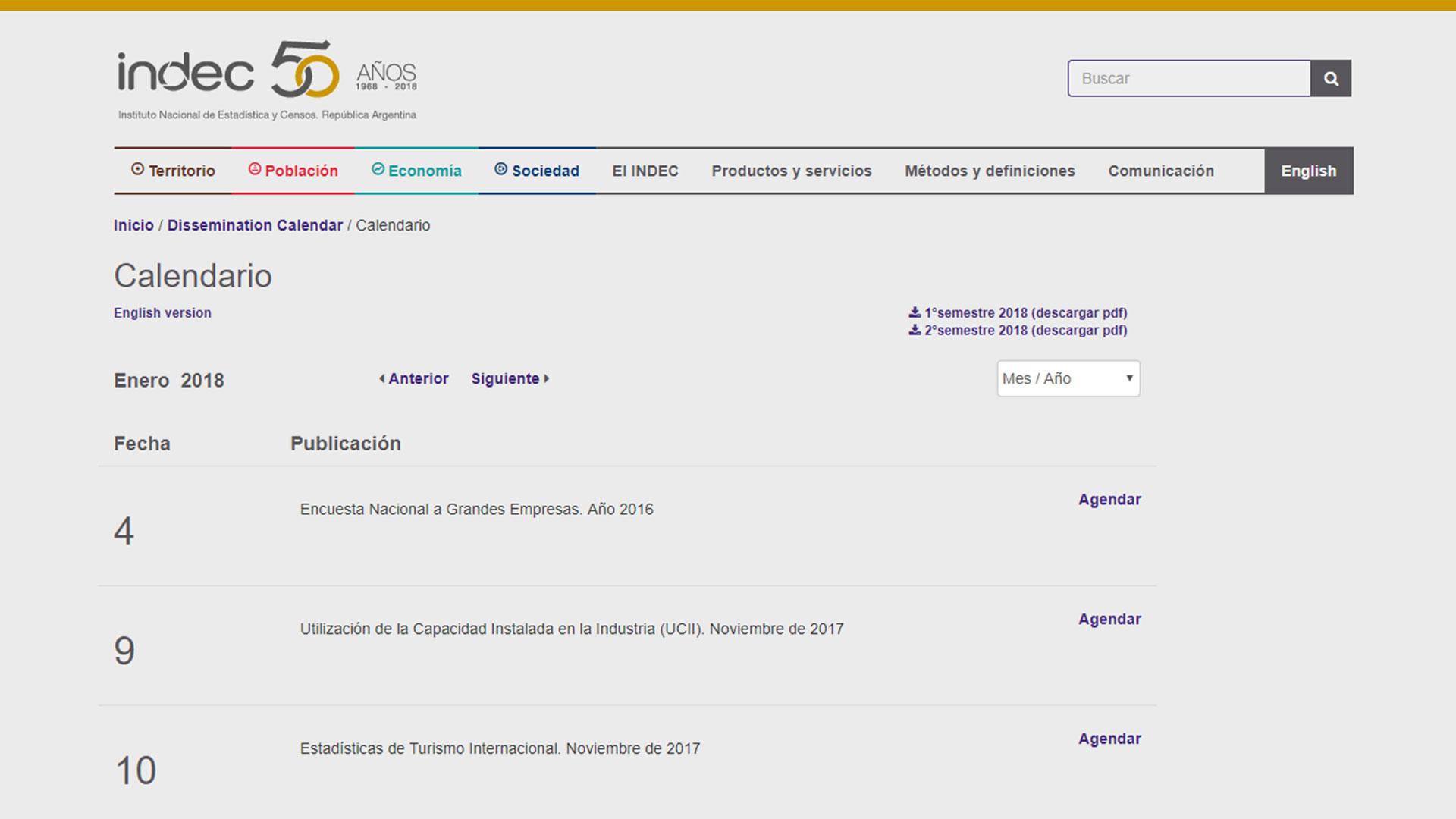El calendario de difusión de las estadísticas del Indec, todas a las 16, es muy valorado por los organismos internacionales