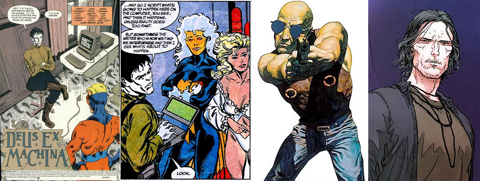 "The Writer en ""Animal man"" y ""Suicide Squad"", King Mub y Wally Sage, tres de sus ""fiction suits"""