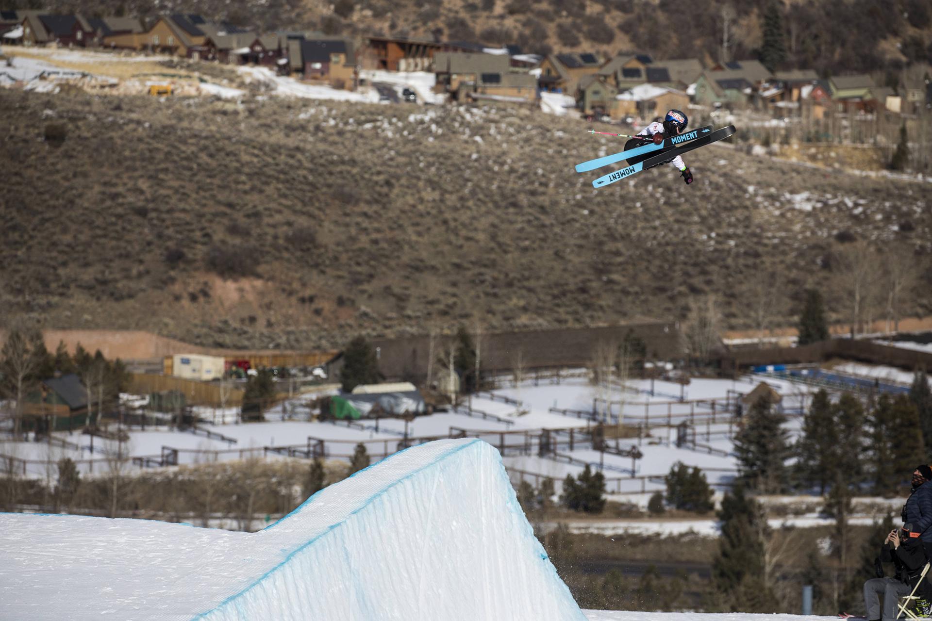 La esquiadora chilena Dominique Ohaco fue una de las figuras en Estados Unidos (AP)