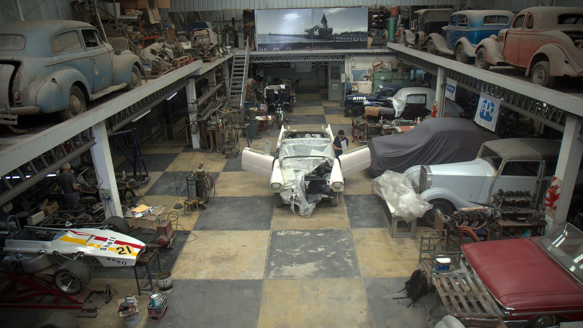 El proceso de restauración del vehículo