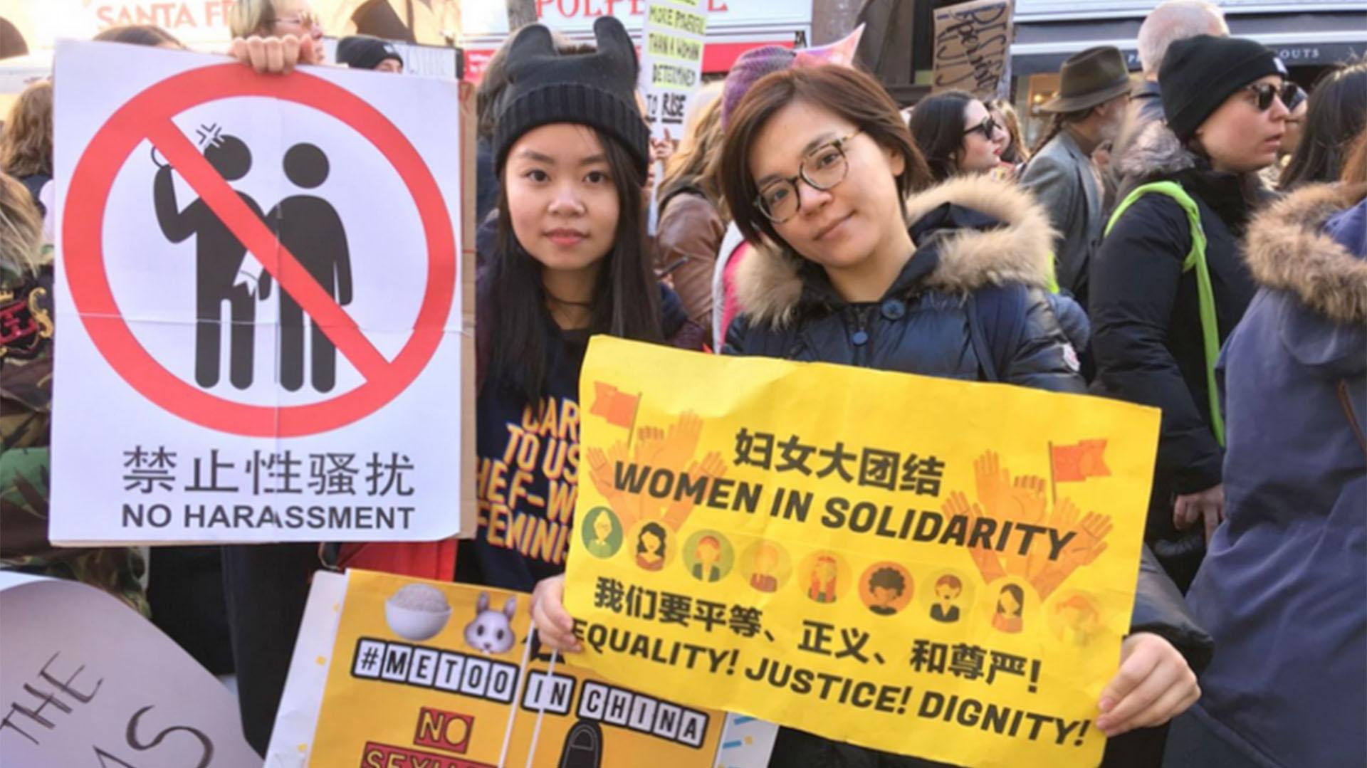 Activistas por los derechos de las mujeres en China
