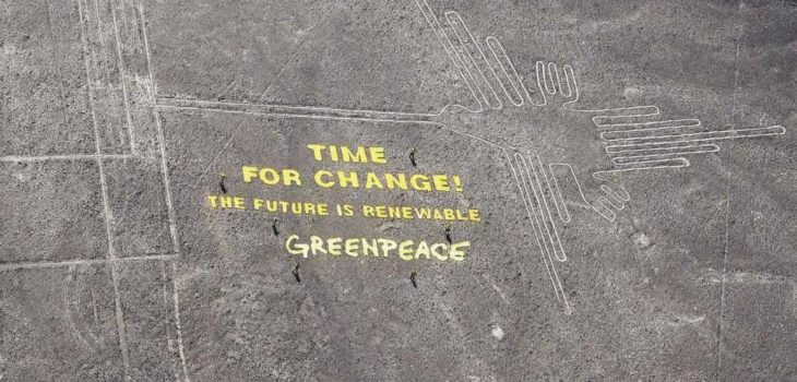 El mensaje dejado por Greenpeace